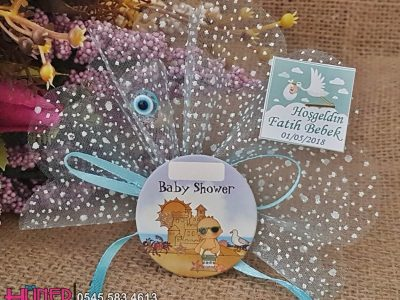 Baby Shower Magneti Mavi