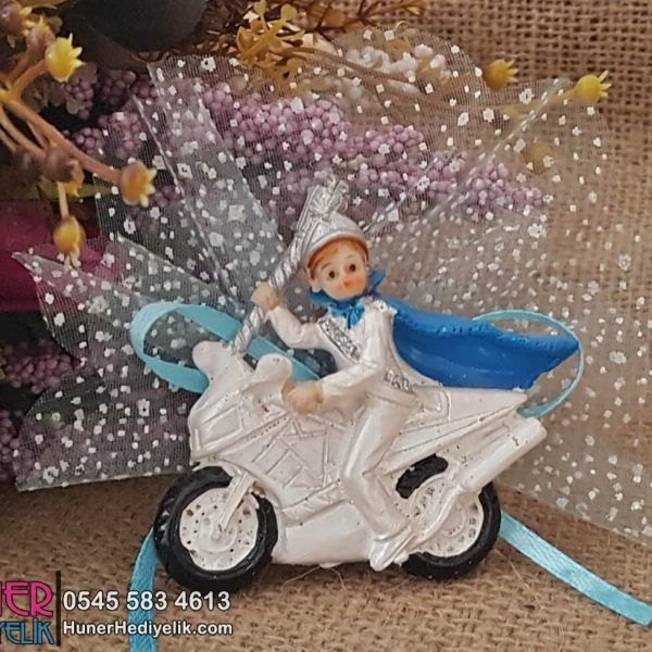 Motorsikletli Sünnet Çocuğu Magneti