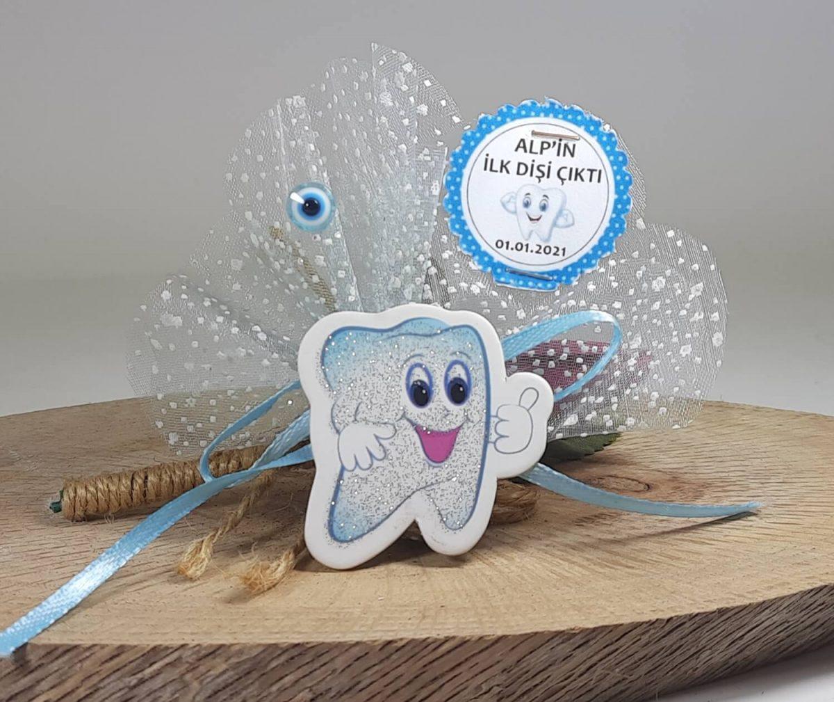 Erkek Diş Buğdayı Magneti Mavi Renkli