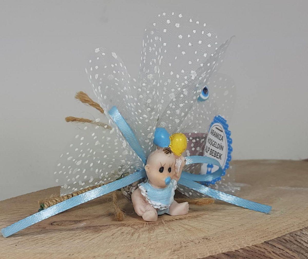 Elinde Balon Olan Bebek Hediyelikleri