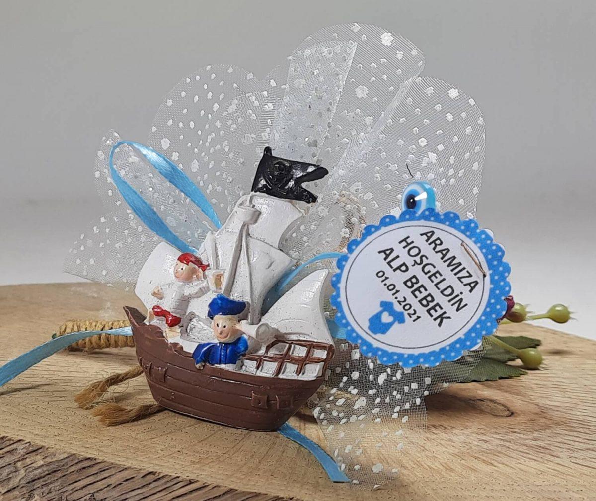 Korsan Gemili Kaptan Bebek Şekeri