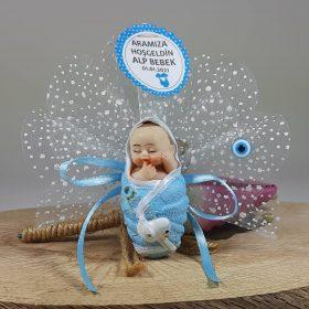 Kundak İçinde Biblolu Bebek Şekeri