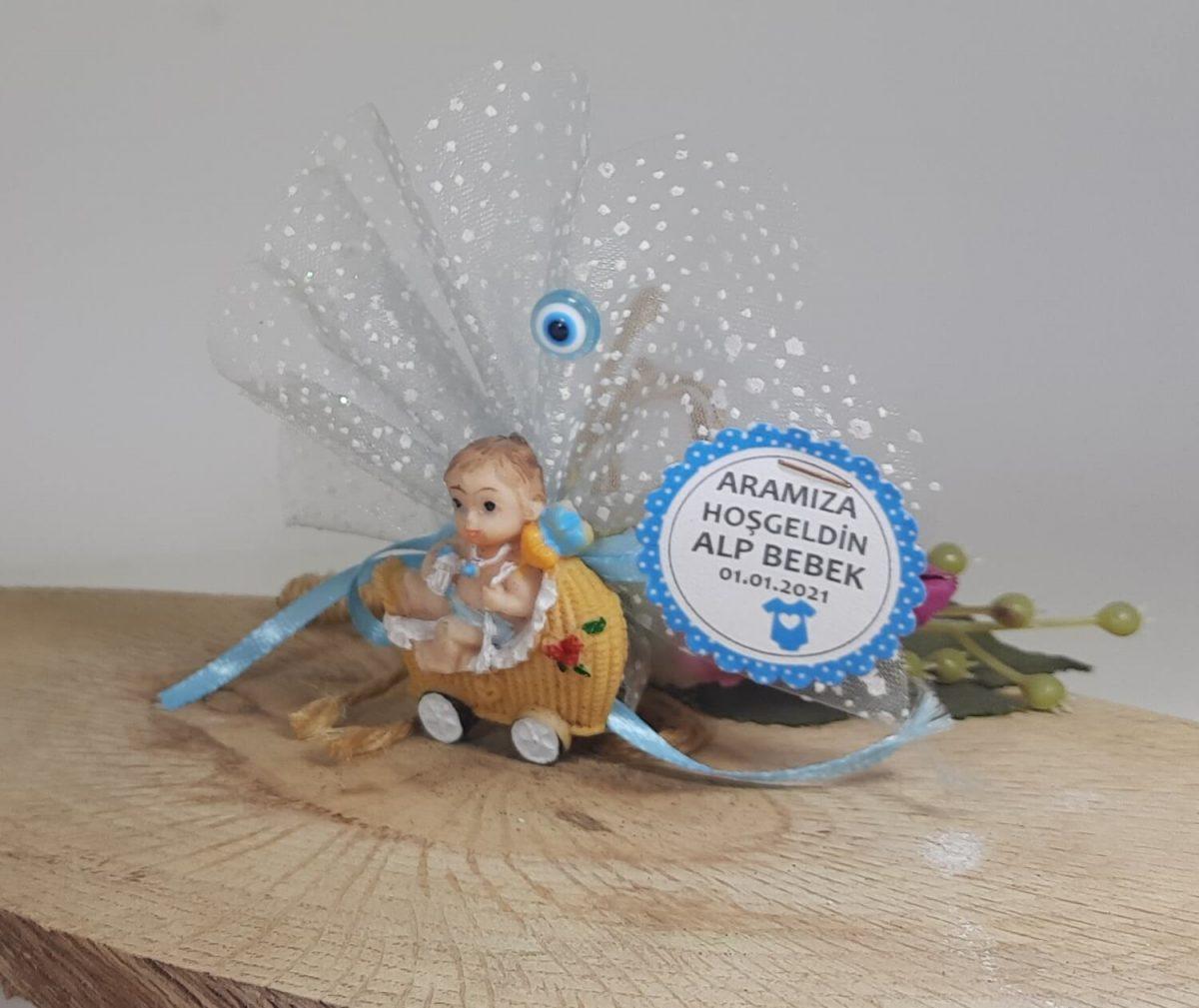 Mavi Pusetli Bebek Magneti Biblodan