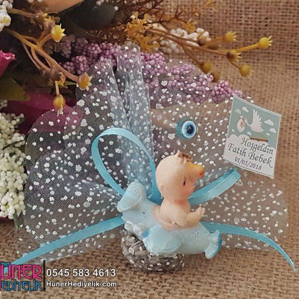 Mavi Uçak İçinde Bebek - Bebek Şekerleri