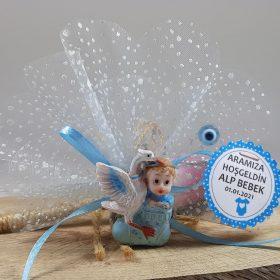 Patikli Ve Leylekli Bebek Şekeri Mavi