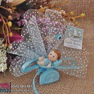 Tartılan Bebek Magneti Mavi
