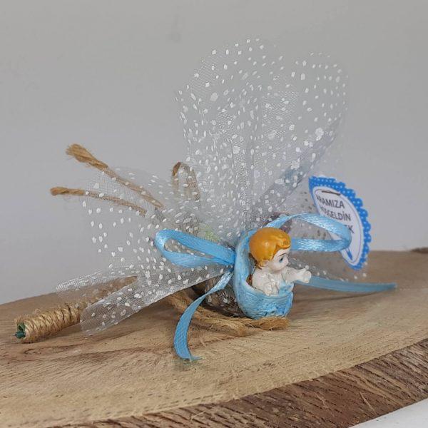 Terlik İçinde Mavi Erkek Bebek Şekeri