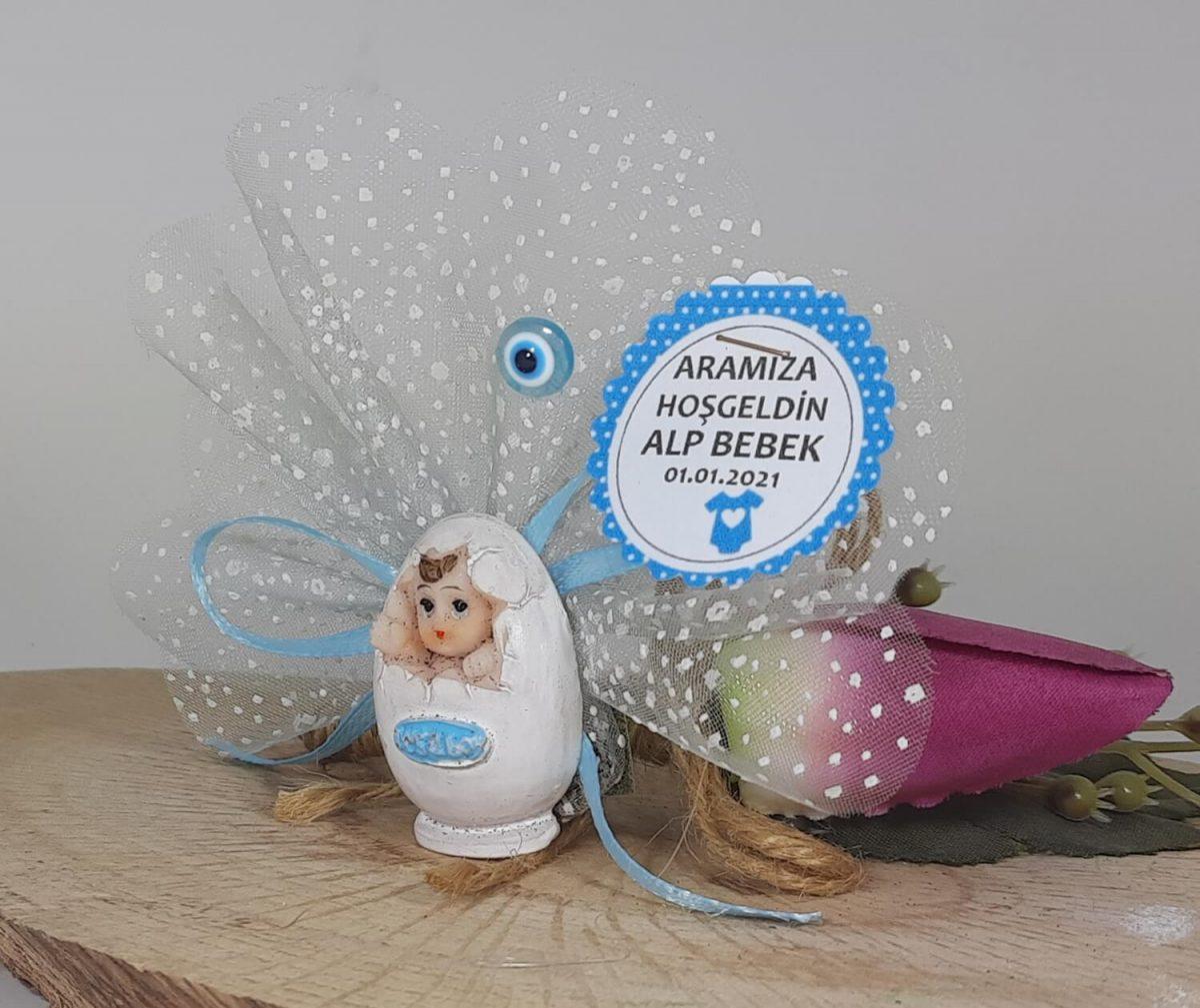 Yumurta İçerisinde Bebek - Yenidoğan Bebek Hediyelikleri