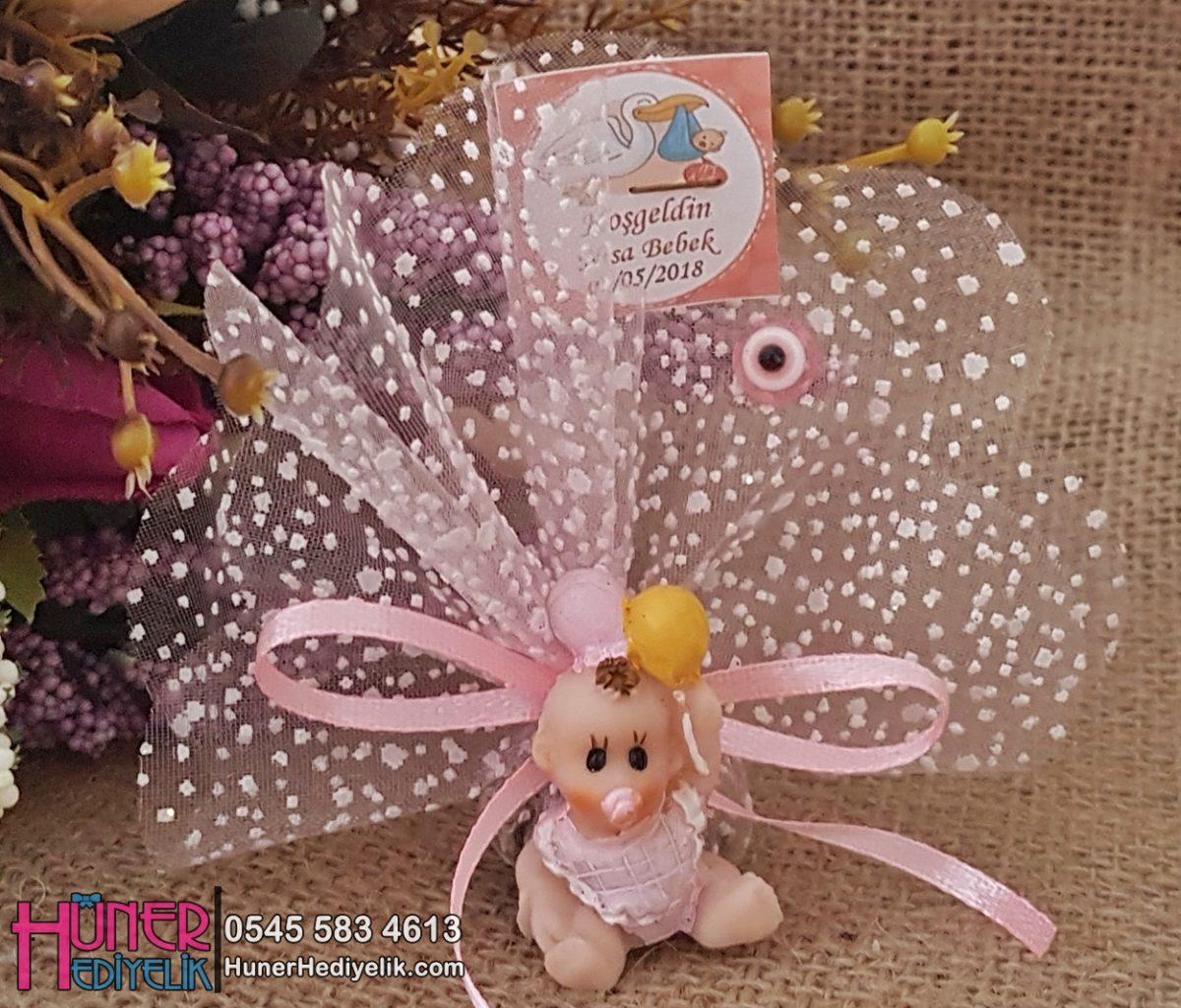 Balon Tutan Pembe Bebek Şekeri Biblolu