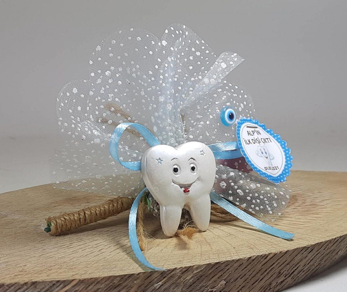 Diş Şeklinde Mavi Diş Buğdayı Magneti Mavi