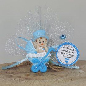 Pusetli Ve Şapkalı Erkek Bebek Şekeri