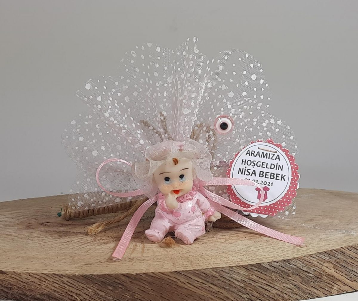 Kafası Tüllü Bebek Şekeri Modeli