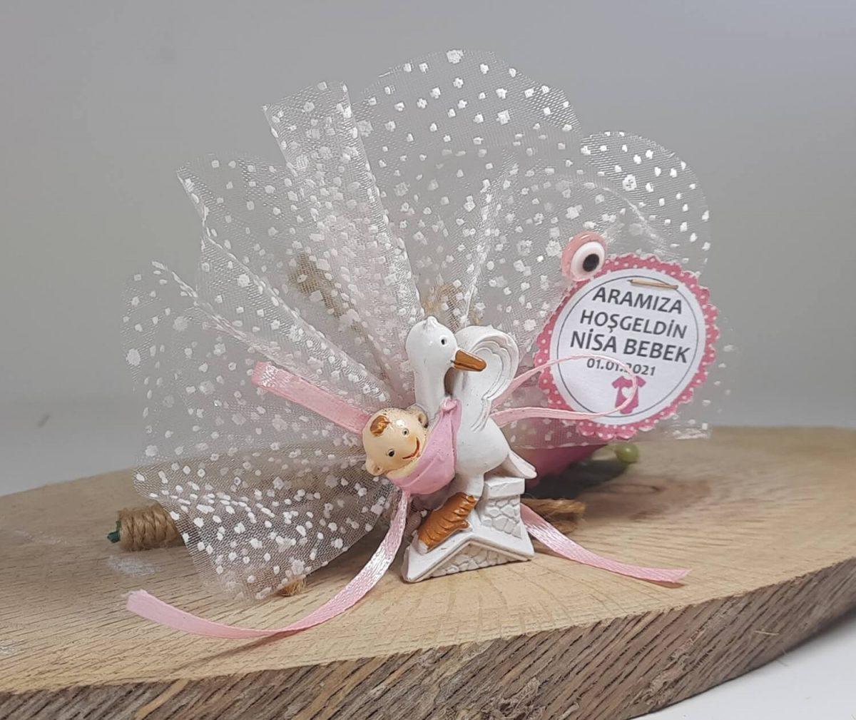 Leylek Getirdi Pembe Bebek Şekeri Modeli