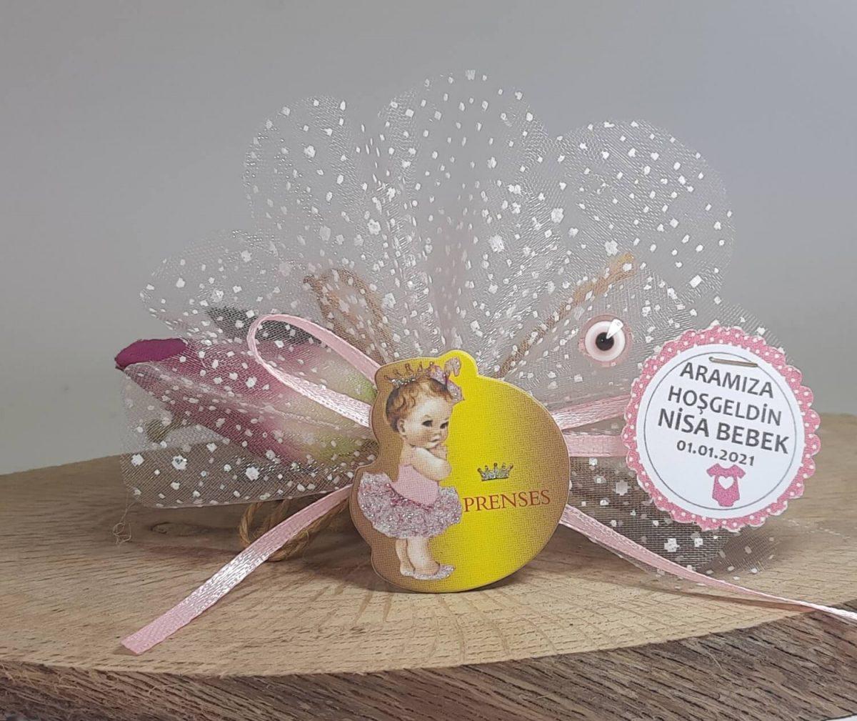 Prenses Yazılı Ucuz Bebek Magneti