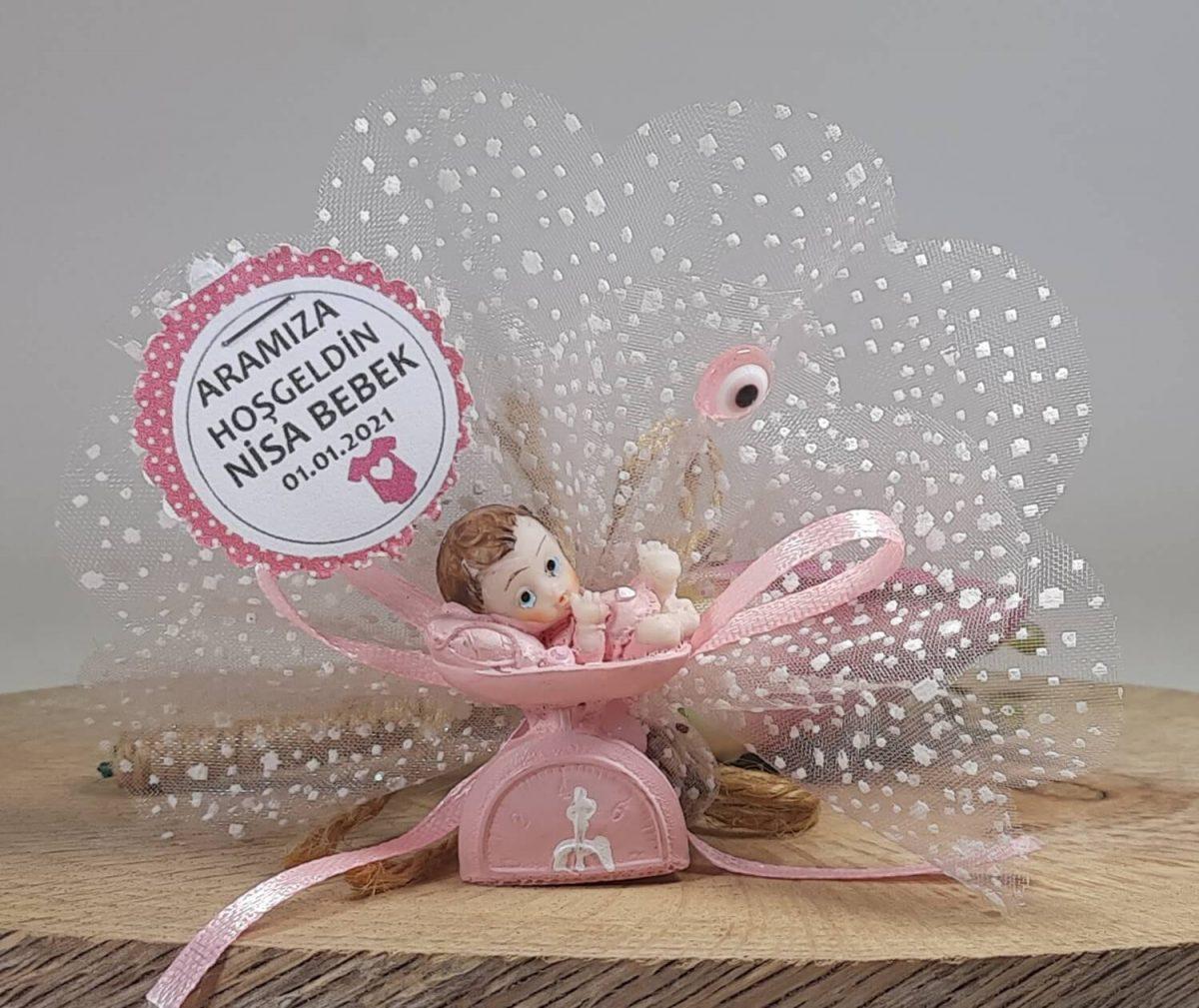 Tartılan Bebek Biblolu Bebek Şekerleri