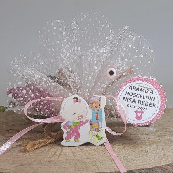 Harf Küplü Ucuz Bebek Şekeri Sticker Modeli