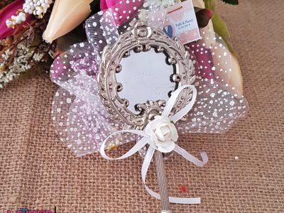 Gümüş Metal Aynalı Nikah Hediyelikleri