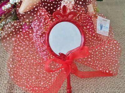 Kırmızı Plastik Ayna Nikah Şekeri