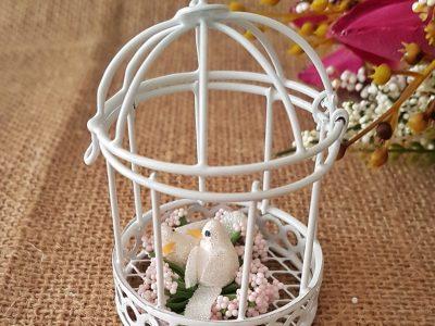 Altı Desenli Kuş Kafesi Hediyelik