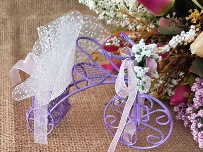 Mor Renkli Tel Bisikletli Nikah Ve Nişan Hediyeliği