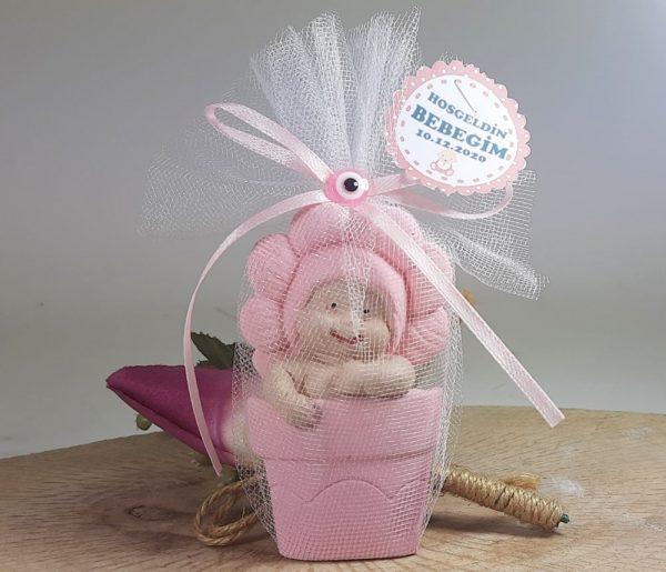 Papatya Kokulu Taş Bebek Magneti Kız